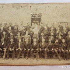 Fotografía antigua: FOTOGRAFÍA CORO EUTERPE, DE COROS CLAVÉ, 23X14 CM. Lote 262466285