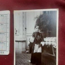 Fotografía antigua: PÁRAMO FOTÓGRAFO, BARACALDO Y PORTUGALETE. SOPORTE DE CARTÓN. MONAGUILLO. 1929. Lote 263088540