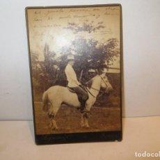 Fotografía antigua: FOTO ALBUMINA MILITAR ?, SIGLO XIX. RETRATO11X17 CM. FOTO: PERTIERRA, MANILA.. Lote 263141885
