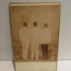 Fotografía antigua: FOTO ALBUMINA, SIGLO XIX. RETRATO11X17 CM. FOTO: PERTIERRA, MANILA.. Lote 263142025