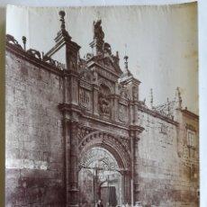 Fotografía antigua: ANTIGUA ALBÚMINA DE BURGOS. HOSPITAL DEL REY Y PUERTA DE ROMANOS. - L. L. AÑO 1880 - 1890. Lote 264782439