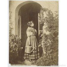 Fotografía antigua: CÓRDOBA - LA JARDINERA - 1870'S. FOTO: JEAN LAURENT - 25X32,5 CM.. Lote 268770239