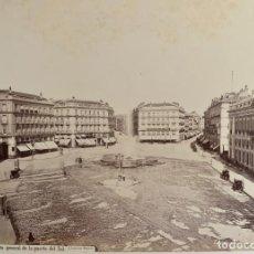 Fotografía antigua: FOTOGRAFÍA ALBÚMINA - JEAN LAURENT - VISTA GENERAL DE LA PUERTA DEL SOL - MADRID - CIRCA 1870. Lote 269168798