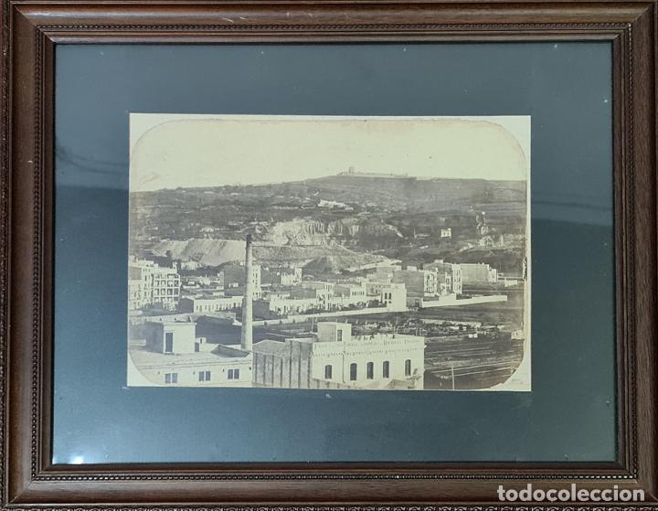VISTA DE BARCELONA. FOTOGRAFIA DE ALBUMINA. SIGLO XIX. (Fotografía Antigua - Albúmina)