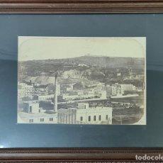 Fotografía antigua: VISTA DE BARCELONA. FOTOGRAFIA DE ALBUMINA. SIGLO XIX.. Lote 269810103