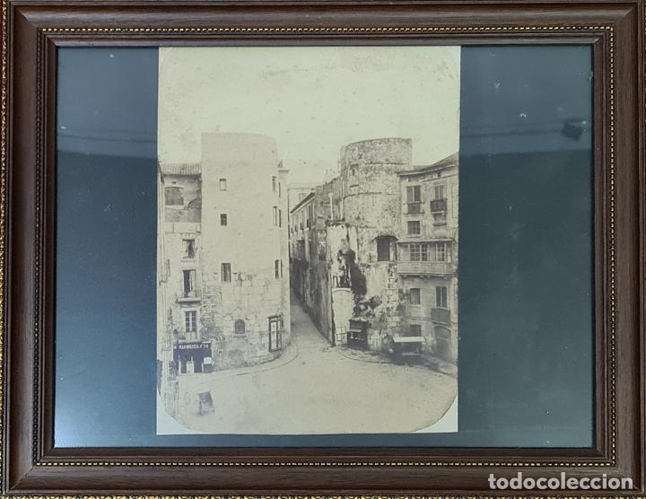 RAVAL DE BARCELONA. FOTOGRAFIA DE ALBUMINA. FINELES SIGLO XIX. (Fotografía Antigua - Albúmina)