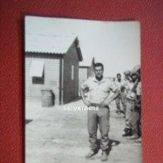 Fotografía antigua: FOTOGRAFIA RECLUTAS SAHARA ESPAÑOL.AAIUN.ACTUAL REPUBLICA ARABE SAHARAUI INVADIDA POR MARRUECOS.. Lote 269971153