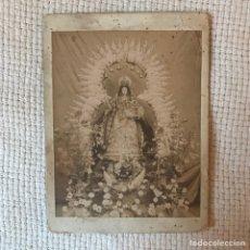 Fotografía antigua: ANTIGUA FOTOGRAFÍA ALBÚMINA DE VIRGEN DE GLORIA A IDENTIFICAR - ADQUIRIDA EN SEVILLA ¿MONTEMAYOR?. Lote 270645018