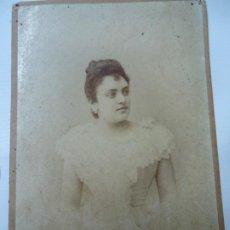 Fotografía antigua: 1893 FOTO ORIGINAL DE J. SELLIER CON DEDICATORIA Y FECHA 1893 MIDE 16 X 11 CM FIRMADA EN EL FRENTE. Lote 272729748