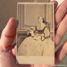 Fotografía antigua: ANTIGUA FOTOGRAFIA POST MORTEM, DIFUNTA , USA , SELLO DE 3 CENTS , INTER REVENUE FOR EXCHANGE. Lote 274272598
