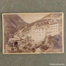 Fotografía antigua: ANTIGUA FOTOGRAFIA , LOS VIEJOS BAÑOS DE BORMIO , ITALIA. Lote 274919178