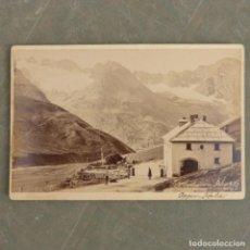 Fotografía antigua: ANTIGUA FOTOGRAFIA DE FINALES DEL XIX , LOS GRANDES BAÑOS DE BORMIO Y SU ENTORNO. Lote 274919428