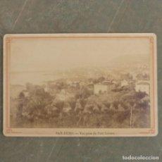 Fotografía antigua: ANTIGUA FOTOGRAFIA , SAN REMO , VUE PRISE DU COTE LEVANT. Lote 274920538