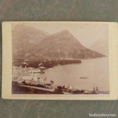 Fotografía antigua: ANTIGUA FOTOGRAFIA , LUGANO E MONTE BRE , FINALES DE SIGLO XIX , ITALIA. Lote 274920703