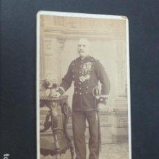 Fotografía antigua: PALENCIA IDELMON FOTOGRAFO RETRATO DE MILITAR TENIENTE CORONEL NATURAL DE OSORNO HACIA 1885. Lote 275192193