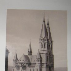 Fotografía antigua: FOTOGRAFÍA EN HUECOGRABADO ORIGINAL DE EDUARD MERTENS DE LA RINGKIRCHE, WIESBADEN.. Lote 275308693