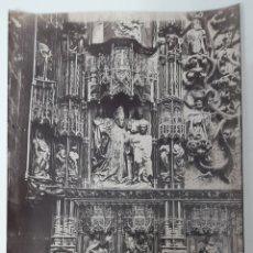 Fotografía antigua: ANTIGUA ALBÚMINA DE LA CAPILLA DE LA CONCEPCIÓN Ó SANTA ANA DE LA CATEDRAL DE BURGOS.. Lote 275962593