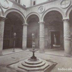 Fotografía antigua: FLORENCIA ITALIA PALACIO VECCHIO ANTIGUA ALBUMINA SIGLO XIX 18 X 25 CMTS. Lote 276455273