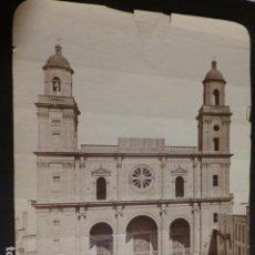 Fotografía antigua: LAS PALMAS DE GRAN CANARIA LA CATEDRAL ALBUMINA SIGLO XIX 16 X 20 CMTS. Lote 276461558