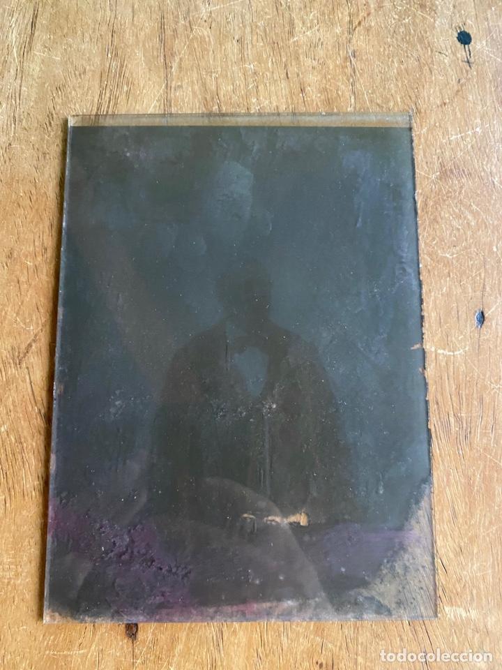 Fotografía antigua: Placa Cristal Negativo señor con traje - Foto 3 - 276918013