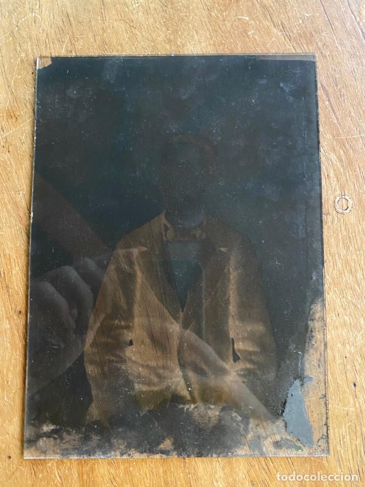 Fotografía antigua: Placa Cristal Negativo chico joven con traje - Foto 4 - 276923703
