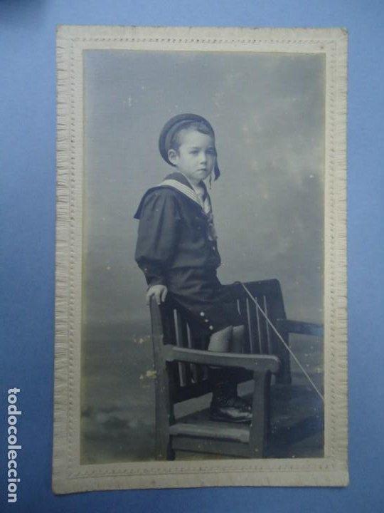 1890 FIRMADA EN LA TRASERA CON EL SELLO DE J. SELLIER EN CORUÑA CON EL Nº 3245 ES ORIGINAL Y BIEN C (Fotografía Antigua - Albúmina)