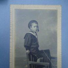 Fotografía antigua: 1890 FIRMADA EN LA TRASERA CON EL SELLO DE J. SELLIER EN CORUÑA CON EL Nº 3245 ES ORIGINAL Y BIEN C. Lote 277059623