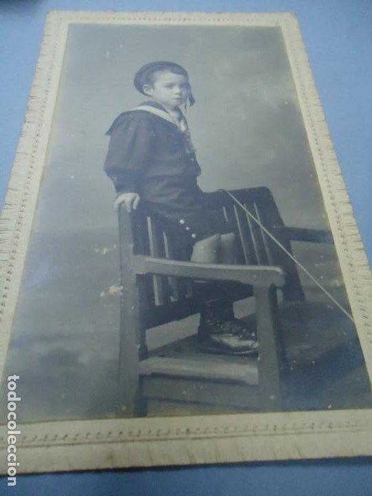 Fotografía antigua: 1890 FIRMADA EN LA TRASERA CON EL SELLO DE J. SELLIER EN CORUÑA CON EL Nº 3245 ES ORIGINAL Y BIEN C - Foto 3 - 277059623