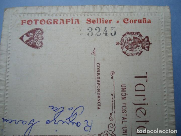Fotografía antigua: 1890 FIRMADA EN LA TRASERA CON EL SELLO DE J. SELLIER EN CORUÑA CON EL Nº 3245 ES ORIGINAL Y BIEN C - Foto 5 - 277059623