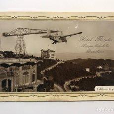 Fotografía antigua: BARCELONA. FOTOGRAFÍA HOTEL FLORIDA. PARQUE TIBIDABO, LA DIRECCIÓN DEL HOTEL LES DESEA… (H.1950?). Lote 277305903