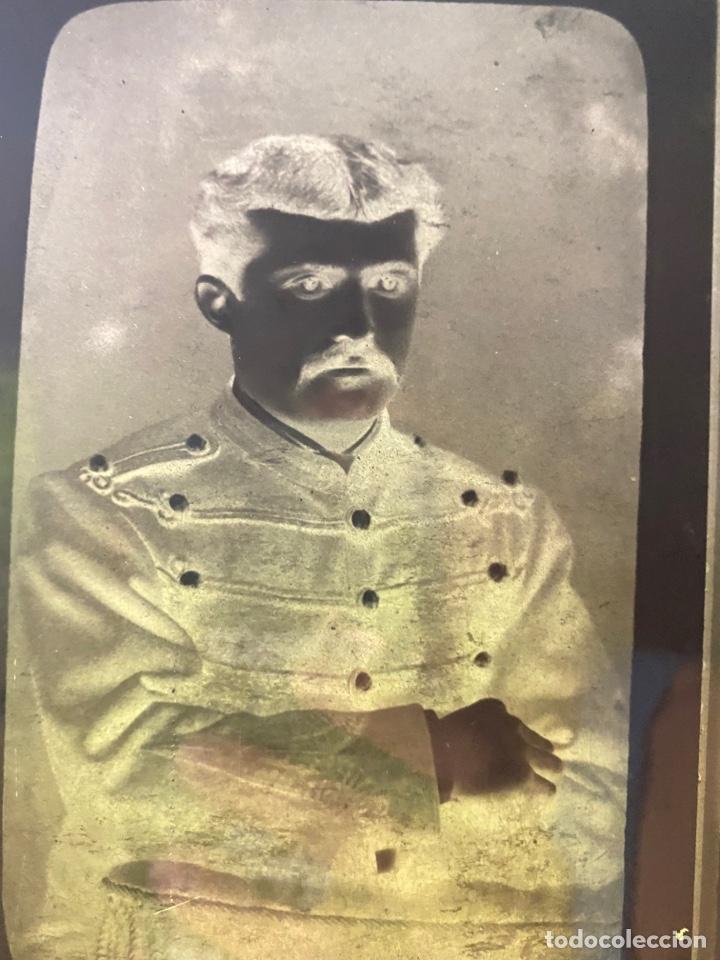 Fotografía antigua: Placa Cristal Negativo retrato señor con traje/ oficial - Foto 2 - 277440908