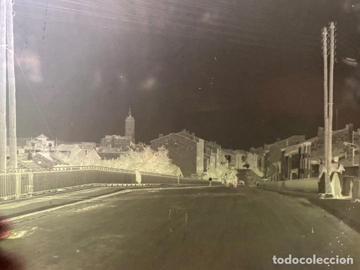 Fotografía antigua: Placa Cristal Negativo paisaje pueblo - Foto 2 - 277442528