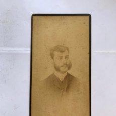 Fotografía antigua: FOTO ALBUMINA. ENRIQUE R. S. FOTÓGRAFO R. AREÑAS. BARCELONA. FINALES S. XIX.. Lote 279591623