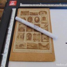 Fotografía antigua: FOTO FOTOGRAFIA ALBUMINA RECUERDO DEL COLEGIO DE LOYOLA 1689 1888 MULTIVISTA. Lote 279793568