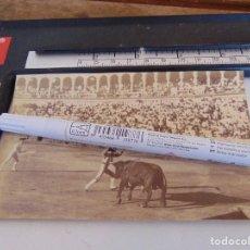 Fotografía antigua: FOTO ALBUMINA PLAZA TOROS LA MAESTRANZA DE SEVILLA FINALES DE SIGLO XIX, PAR DE BANDERILLAS. Lote 279934263