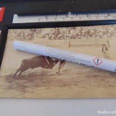 Fotografía antigua: FOTO ALBUMINA PLAZA TOROS LA MAESTRANZA DE SEVILLA FINALES DE SIGLO XIX, TORERO ESPARTERO. Lote 279949643