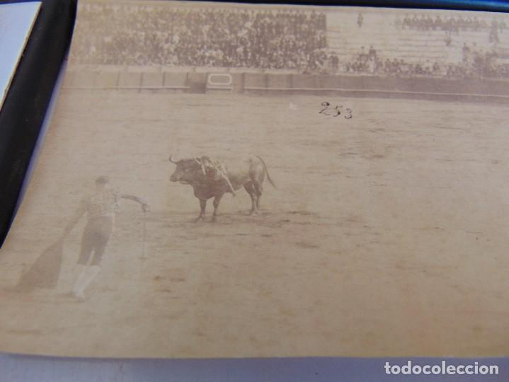 Fotografía antigua: FOTO ALBUMINA PLAZA TOROS LA MAESTRANZA DE SEVILLA FINALES DE SIGLO XIX, TORERO GALLITO - Foto 2 - 279988278