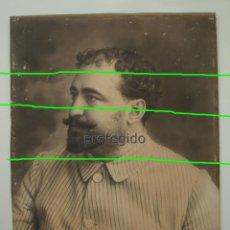 Fotografía antigua: VICENTE BLASCO IBAÑEZ. RETRATO DE JUVENTUD. AÑO 1900. GRAN FOTOGRAFÍA.. Lote 283682668
