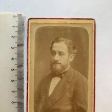 Photographie ancienne: FOTO ALBUMINA. CABALLERO DE LA TRISTE MIRADA. NADAR, FOTÓGRAFO. PARIS.. Lote 284334553