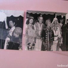 Fotografia antiga: 2 FOTOS DEL DIA DE CUMPLEAÑOS DE DON JAIME DE MORA CON OTROS FAMOSOS. JULIO 1974. MARBELLA CLUB.. Lote 286810608