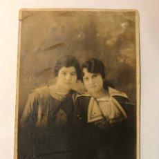 Fotografia antiga: WANDRE, MALAGA.., ALBUMINA FOTOGRAFÍA RETRATO DE DOS JÓVENES… (H.1910?). Lote 287721078