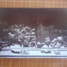 Fotografía antigua: GRANADA DETALLE DE LA SILLERIA DEL CORO DE LA CATEDRAL ALBUMINA SIGLO XIX 14 X 21 CMTS. Lote 288396158