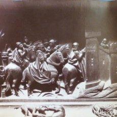 Fotografía antigua: TOMA DE PURCHENA GRANADA DETALLE SILLERÍA DEL CORO CATEDRAL ALBÚMINA 22 X 16,5 CTMS. Lote 289595413