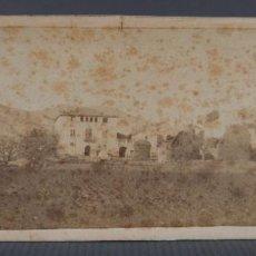 Fotografía antigua: FOTOGRAFIA PAISAJE CAMPO CON CASA FINALES SILO XIX. Lote 289626523