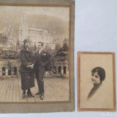 Fotografía antigua: 2 FOTOGRAFIAS AÑOS 30. PEPE, LLANES. ASTURIAS.. Lote 289782413