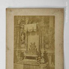 Fotografía antigua: ANTIGUA FOTOGRAFÍA SOBRE CARTÓN - ALTAR BARROCO. Lote 289839293