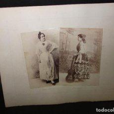 Fotografía antigua: FOTOGRAFÍA 4 TIPOS DE ESPAÑA VALENCIA Y MURCIA SIGLO XIX ALBUMINA + 2 CROMOS. Lote 293197538