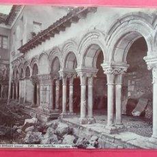Fotografía antigua: J. LAURENT.-LAS HUELGAS.-LOS CLAUSTRILLOS.-NUMERO 1589.-ALBUMINA.-BURGOS.. Lote 293216058
