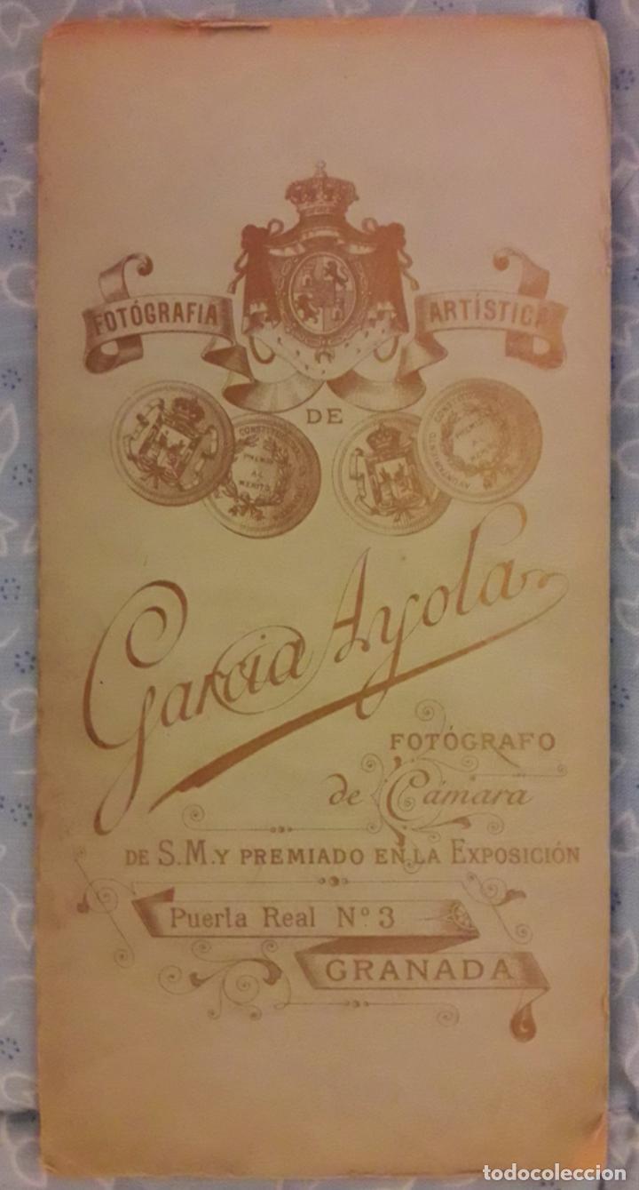 Fotografía antigua: Retrato abogado. García Ayola -Granada - Foto 2 - 293309948