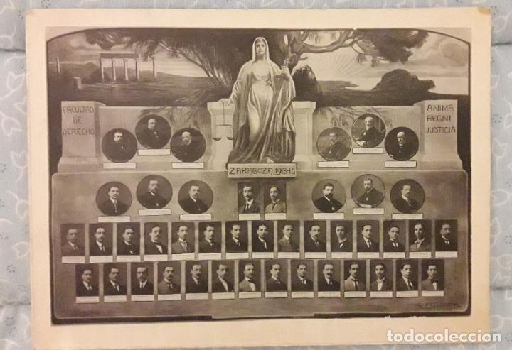 FOTOGRAFÍA ORLA FACULTAD DE DERECHO -ZARAGOZA 1913 - 14 (Fotografía Antigua - Albúmina)